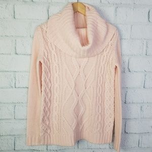 Forever 21 Pink Cowel Neck Sweater